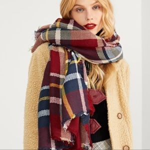 Accessories - 💥SALE💥Red Plaid Blanket Scarf